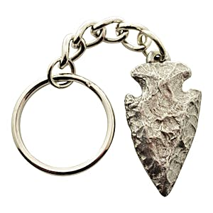 Arrowhead Keychain ~ Antiqued Pewter ~ Keychain ~ Sarah's Treats & Treasures