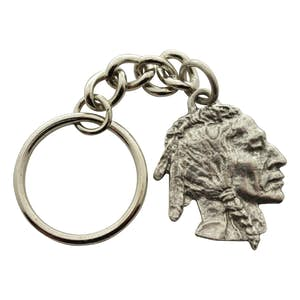 Native American Keychain ~ Antiqued Pewter ~ Keychain ~ Antiqued Pewter Keychain ~ Sarah's Treats & Treasures