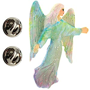 Angel Pin ~ Hand Painted ~ Lapel Pin ~ Sarah's Treats & Treasures