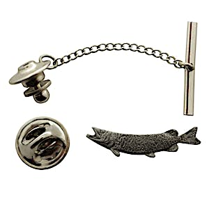 Muskellunge Tie Tack ~ Antiqued Pewter ~ Tie Tack or Pin ~ Antiqued Pewter Tie Tack or Pin ~ Sarah's Treats & Treasures