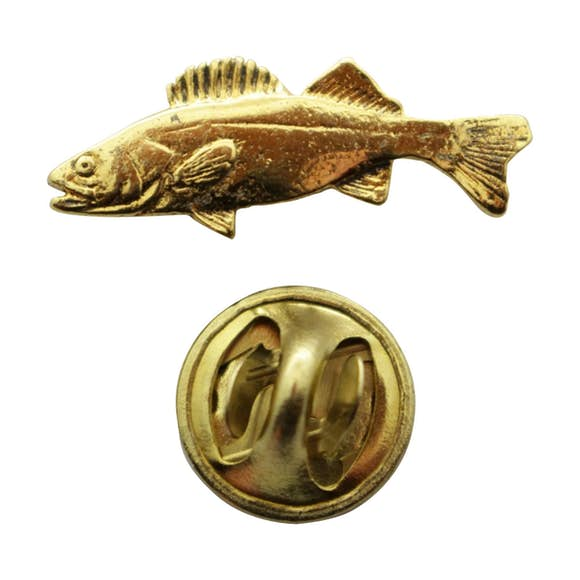 Walleye Mini Pin ~ 24K Gold ~ Miniature Lapel Pin ~ Sarah's Treats & Treasures