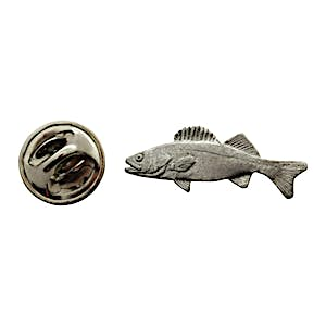 Walleye Mini Pin ~ Antiqued Pewter ~ Miniature Lapel Pin ~ Sarah's Treats & Treasures