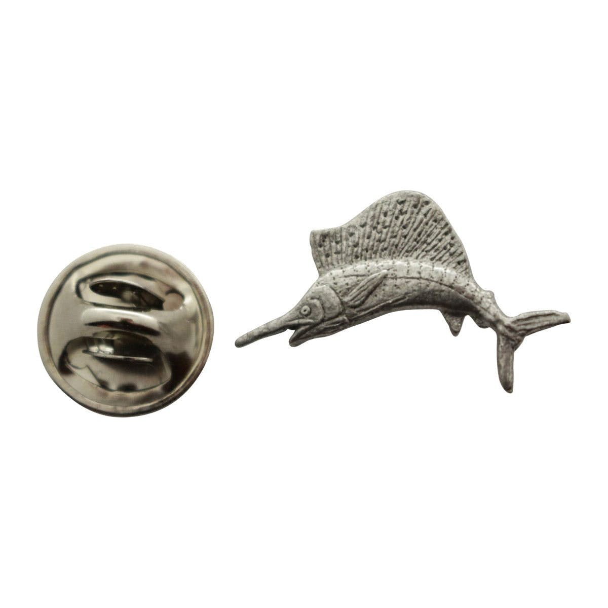 Sailfish Mini Pin ~ Antiqued Pewter ~ Miniature Lapel Pin ~ Sarahu0027s Treats  U0026 Treasures
