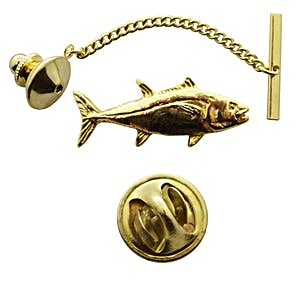 Tuna Tie Tack ~ 24K Gold ~ Tie Tack or Pin ~ 24K Gold Tie Tack or Pin ~ Sarah's Treats & Treasures