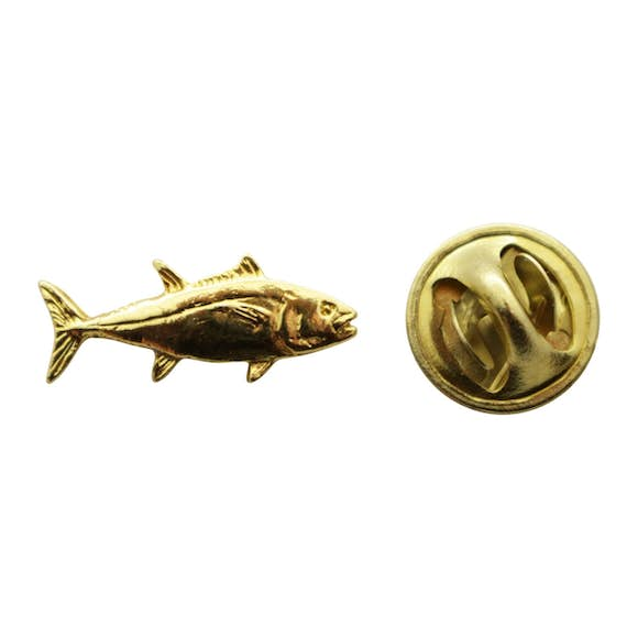 Tuna Mini Pin ~ 24K Gold ~ Miniature Lapel Pin ~ 24K Gold Miniature Lapel Pin ~ Sarah's Treats & Treasures