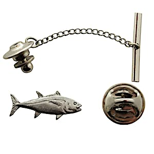 Tuna Tie Tack ~ Antiqued Pewter ~ Tie Tack or Pin ~ Antiqued Pewter Tie Tack or Pin ~ Sarah's Treats & Treasures