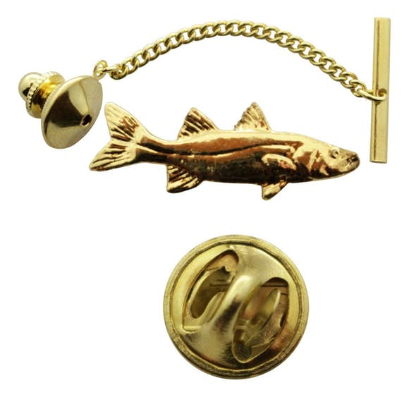 Snook Tie Tack ~ 24K Gold ~ Tie Tack or Pin ~ 24K Gold Tie Tack or Pin ~ Sarah's Treats & Treasures
