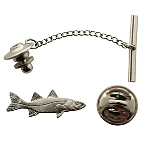 Snook Tie Tack ~ Antiqued Pewter ~ Tie Tack or Pin ~ Antiqued Pewter Tie Tack or Pin ~ Sarah's Treats & Treasures