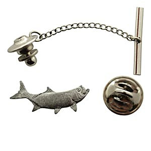 Tarpon Tie Tack ~ Antiqued Pewter ~ Tie Tack or Pin ~ Antiqued Pewter Tie Tack or Pin ~ Sarah's Treats & Treasures