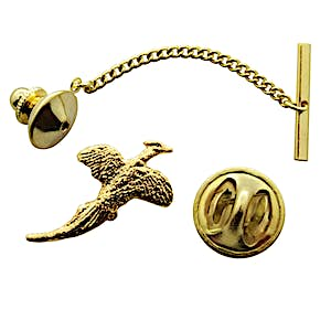 Pheasant Tie Tack ~ 24K Gold ~ Tie Tack or Pin ~ 24K Gold Tie Tack or Pin ~ Sarah's Treats & Treasures