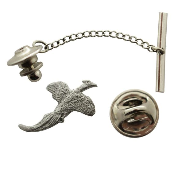 Pheasant Tie Tack ~ Antiqued Pewter ~ Tie Tack or Pin ~ Antiqued Pewter Tie Tack or Pin ~ Sarah's Treats & Treasures