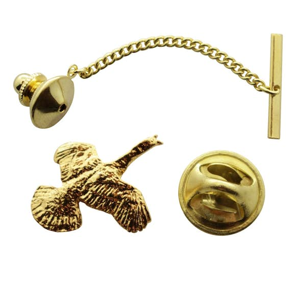Flying Turkey Tie Tack ~ 24K Gold ~ Tie Tack or Pin ~ 24K Gold Tie Tack or Pin ~ Sarah's Treats & Treasures