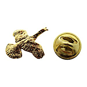 Flying Turkey Mini Pin ~ 24K Gold ~ Miniature Lapel Pin ~ Sarah's Treats & Treasures