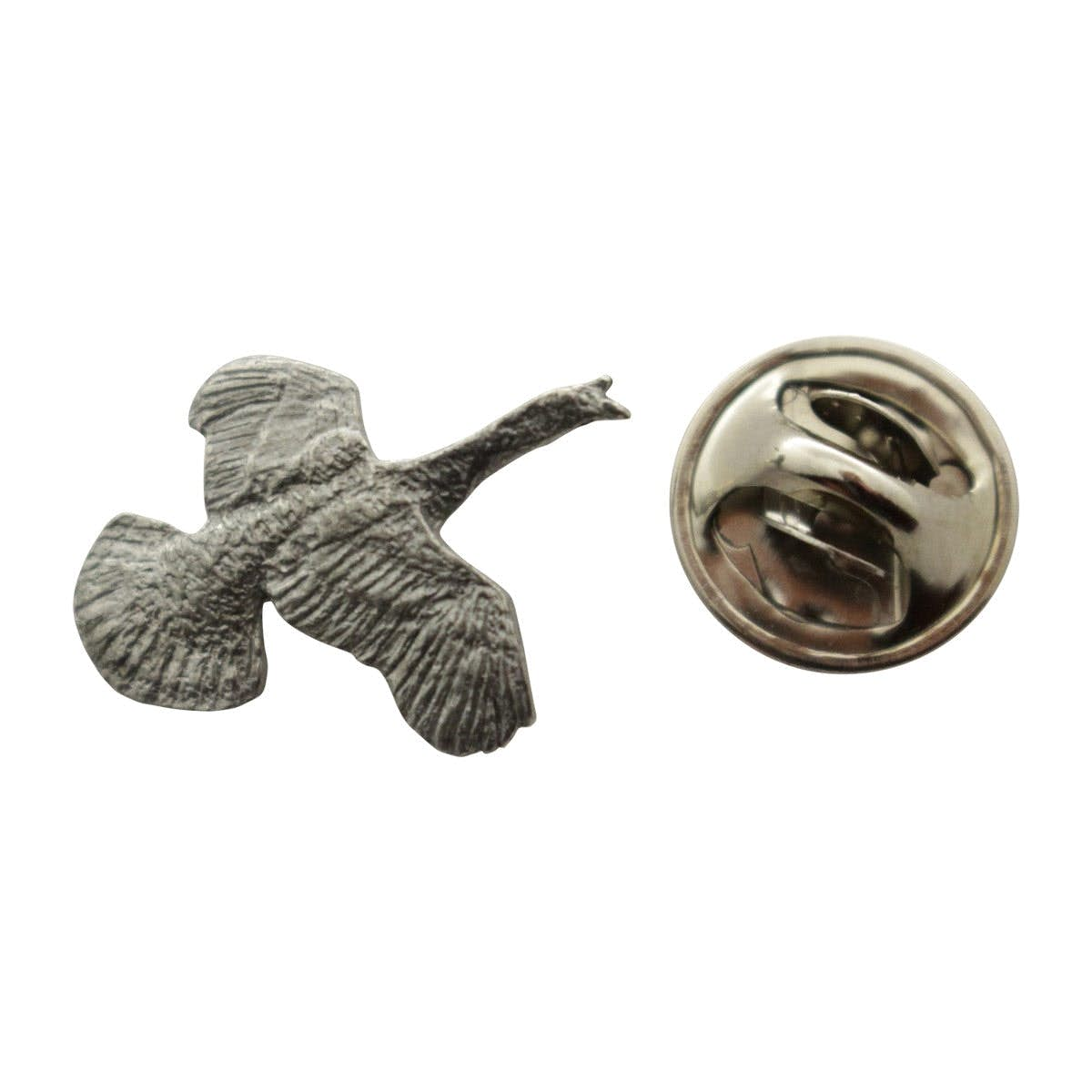 Flying Turkey Mini Pin ~ Antiqued Pewter ~ Miniature Lapel Pin ~ Sarahu0027s  Treats U0026 Treasures