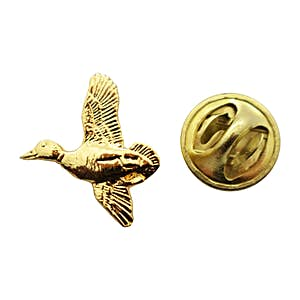 Mallard Mini Pin ~ 24K Gold ~ Miniature Lapel Pin ~ 24K Gold Miniature Lapel Pin ~ Sarah's Treats & Treasures