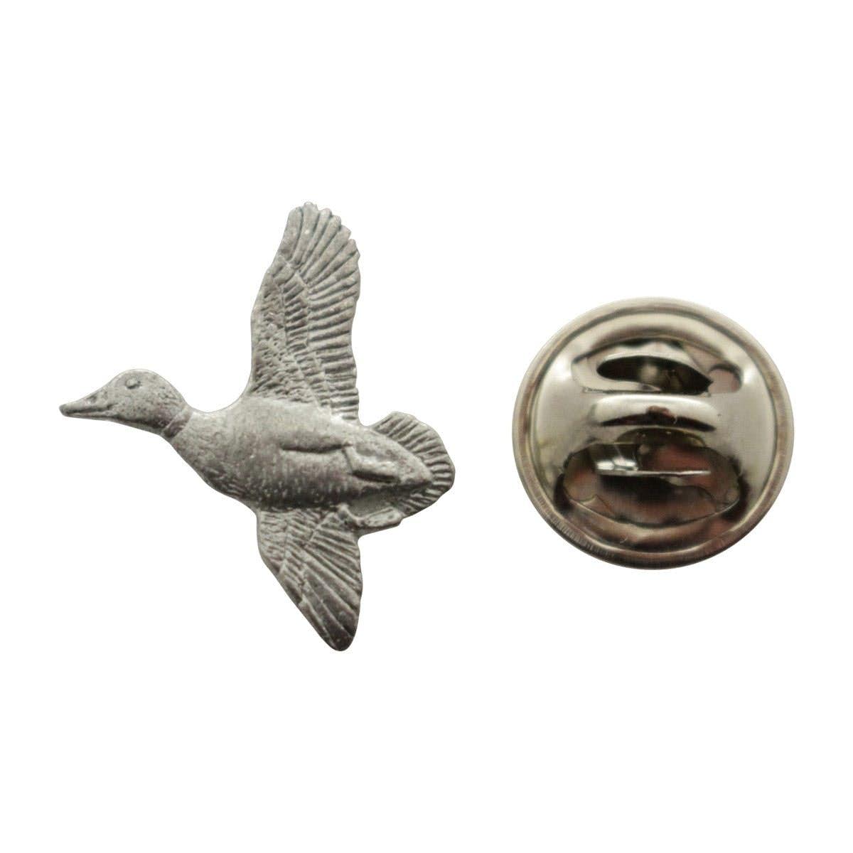 Beautiful Mallard Mini Pin ~ Antiqued Pewter ~ Miniature Lapel Pin ~ Sarahu0027s Treats U0026  Treasures
