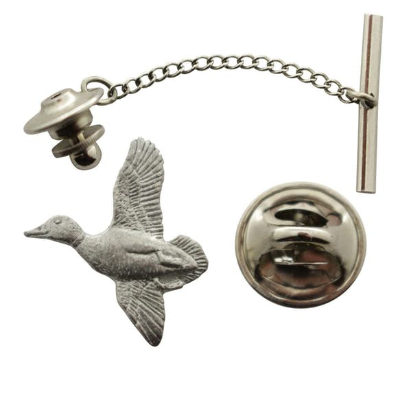 Mallard Tie Tack ~ Antiqued Pewter ~ Tie Tack or Pin ~ Antiqued Pewter Tie Tack or Pin ~ Sarah's Treats & Treasures