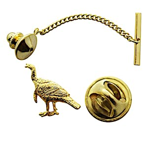 Alert Turkey Tie Tack ~ 24K Gold ~ Tie Tack or Pin ~ Sarah's Treats & Treasures