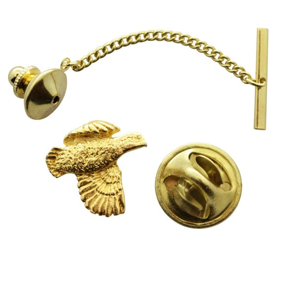 Bobwhite Tie Tack ~ 24K Gold ~ Tie Tack or Pin ~ Sarah's Treats & Treasures