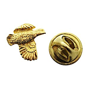 Bobwhite Mini Pin ~ 24K Gold ~ Miniature Lapel Pin ~ Sarah's Treats & Treasures