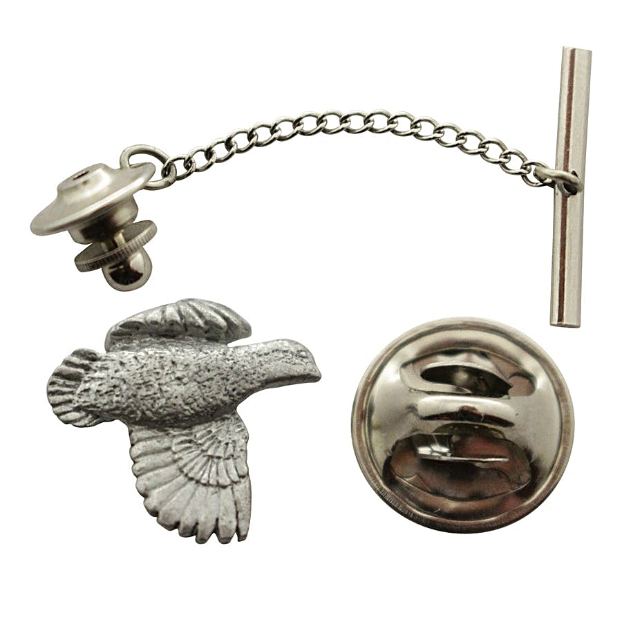 Bobwhite Tie Tack ~ Antiqued Pewter ~ Tie Tack or Pin ~ Sarah's Treats & Treasures