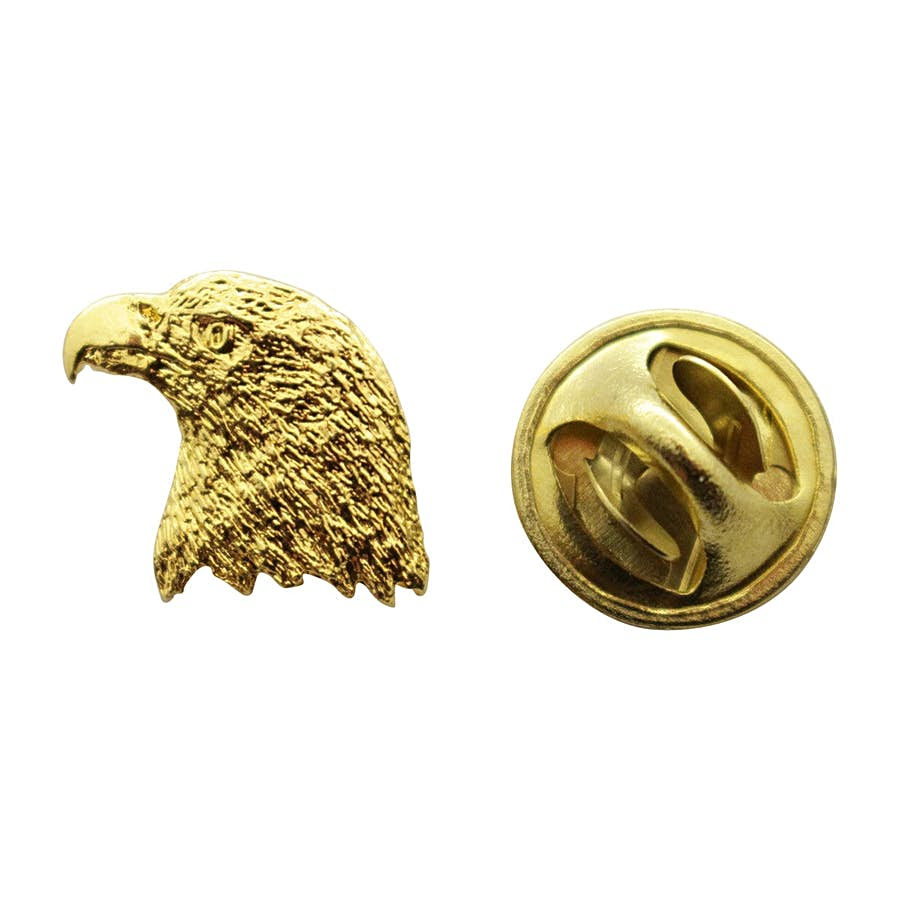 Eagle Mini Pin ~ 24K Gold ~ Miniature Lapel Pin ~ Sarah's Treats & Treasures