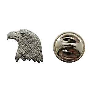 Eagle Mini Pin ~ Antiqued Pewter ~ Miniature Lapel Pin ~ Sarah's Treats & Treasures