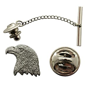 Eagle Tie Tack ~ Antiqued Pewter ~ Tie Tack or Pin ~ Sarah's Treats & Treasures