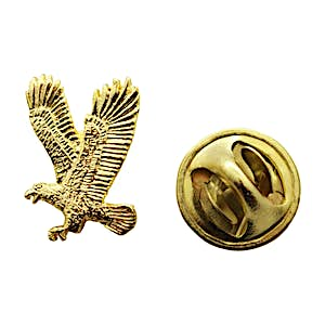 Flying Eagle Mini Pin ~ 24K Gold ~ Miniature Lapel Pin ~ Sarah's Treats & Treasures
