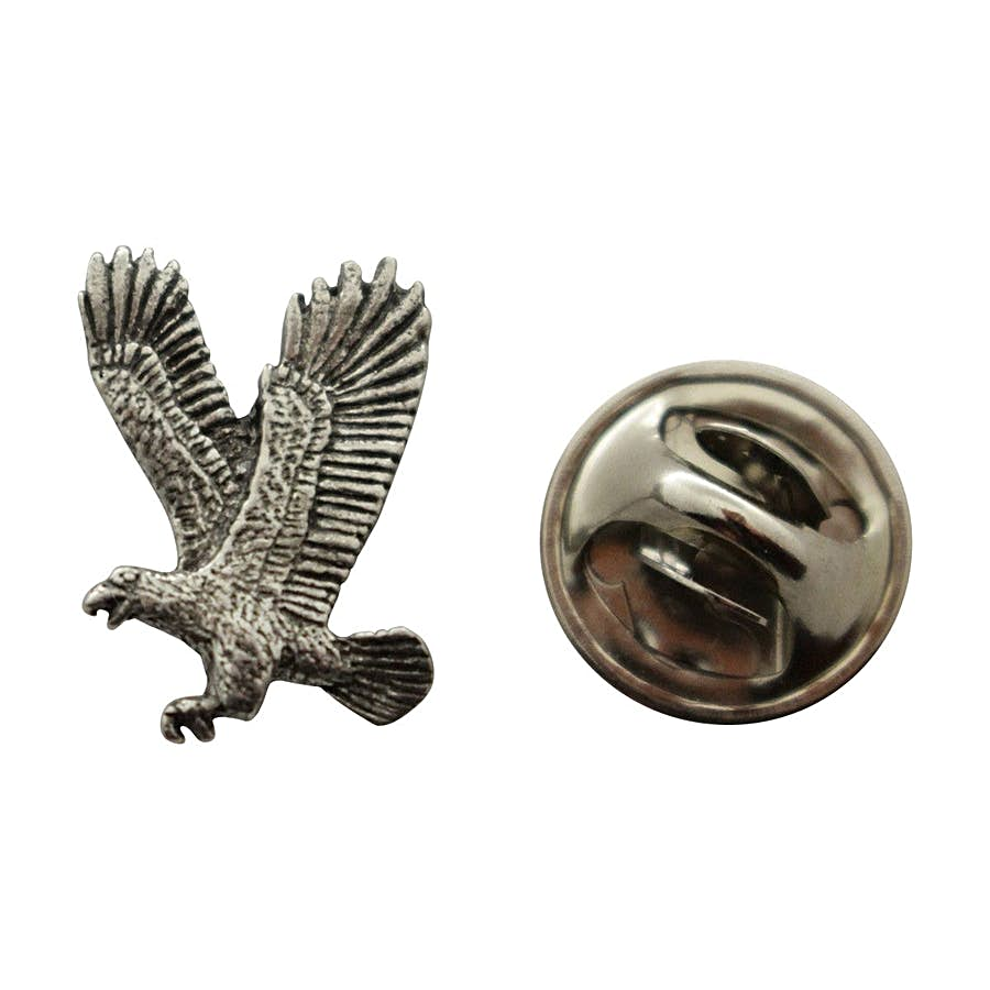Flying Eagle Mini Pin ~ Antiqued Pewter ~ Miniature Lapel Pin ~ Sarah's Treats & Treasures