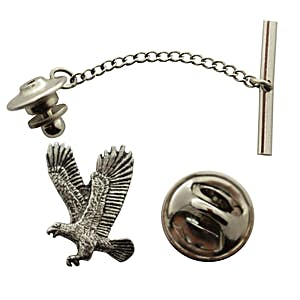 Flying Eagle Tie Tack ~ Antiqued Pewter ~ Tie Tack or Pin ~ Sarah's Treats & Treasures