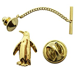 Penguin Tie Tack ~ 24K Gold ~ Tie Tack or Pin ~ 24K Gold Tie Tack or Pin ~ Sarah's Treats & Treasures