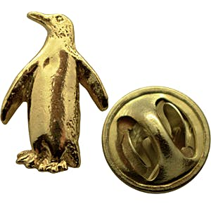 Penguin Mini Pin ~ 24K Gold ~ Miniature Lapel Pin ~ Sarah's Treats & Treasures