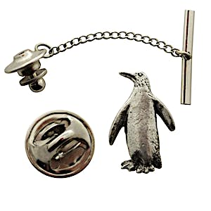 Penguin Tie Tack ~ Antiqued Pewter ~ Tie Tack or Pin ~ Antiqued Pewter Tie Tack or Pin ~ Sarah's Treats & Treasures