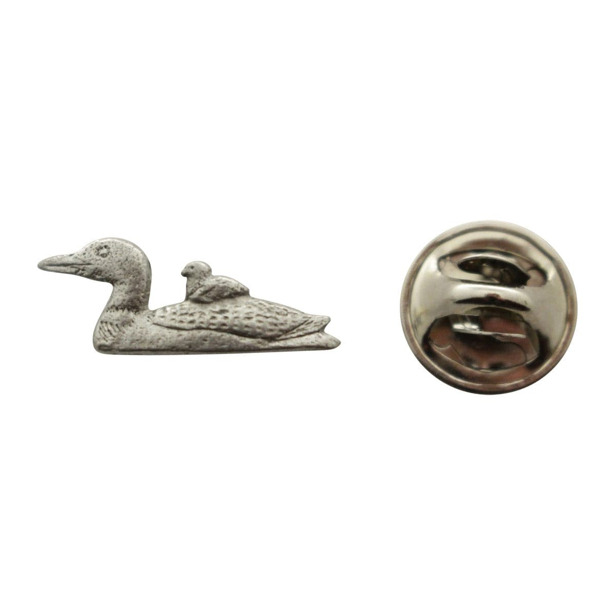 Superior Loon With Chick Mini Pin ~ Antiqued Pewter ~ Miniature Lapel Pin ~ Sarahu0027s  Treats U0026