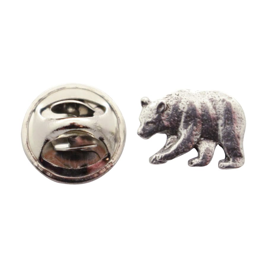 Black Bear Pin ~ Antiqued Pewter ~ Miniature Lapel Pin ~ Sarah's Treats & Treasures