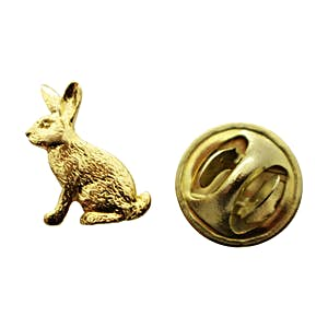 Rabbit Mini Pin ~ 24K Gold ~ Miniature Lapel Pin ~ 24K Gold Miniature Lapel Pin ~ Sarah's Treats & Treasures