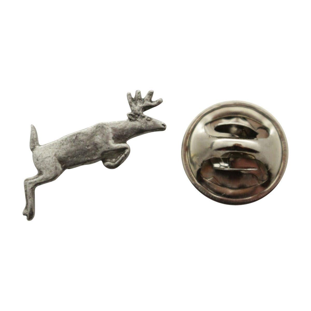 Leaping Deer Mini Pin ~ Antiqued Pewter ~ Miniature Lapel Pin ~ Sarahu0027s  Treats U0026 Treasures