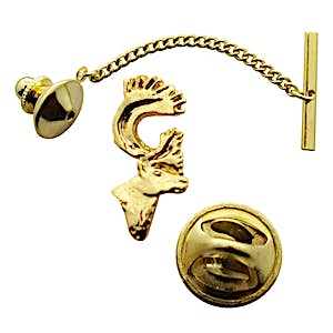 Caribou Tie Tack ~ 24K Gold ~ Tie Tack or Pin ~ 24K Gold Tie Tack or Pin ~ Sarah's Treats & Treasures