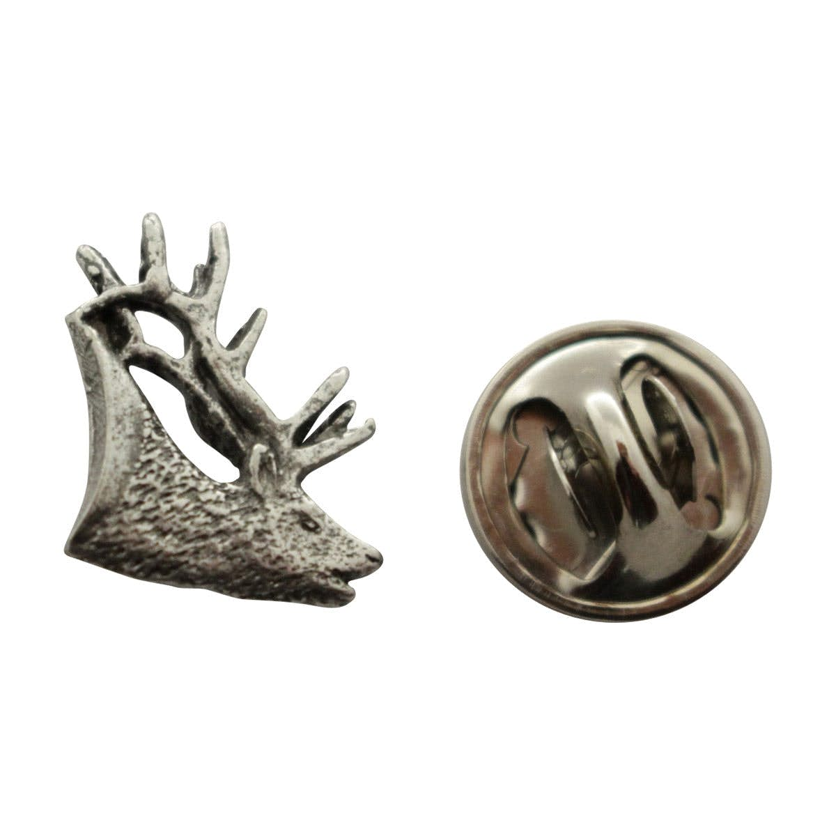 Elk Mini Pin ~ Antiqued Pewter ~ Miniature Lapel Pin ~ Sarahu0027s Treats U0026  Treasures