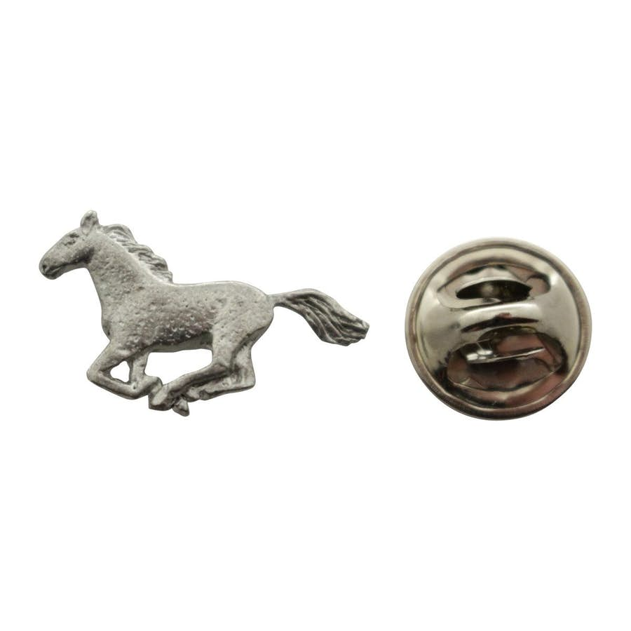 Horse Mini Pin ~ Antiqued Pewter ~ Miniature Lapel Pin ~ Sarah's Treats & Treasures