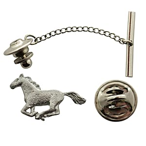 Horse Tie Tack ~ Antiqued Pewter ~ Tie Tack or Pin ~ Antiqued Pewter Tie Tack or Pin ~ Sarah's Treats & Treasures