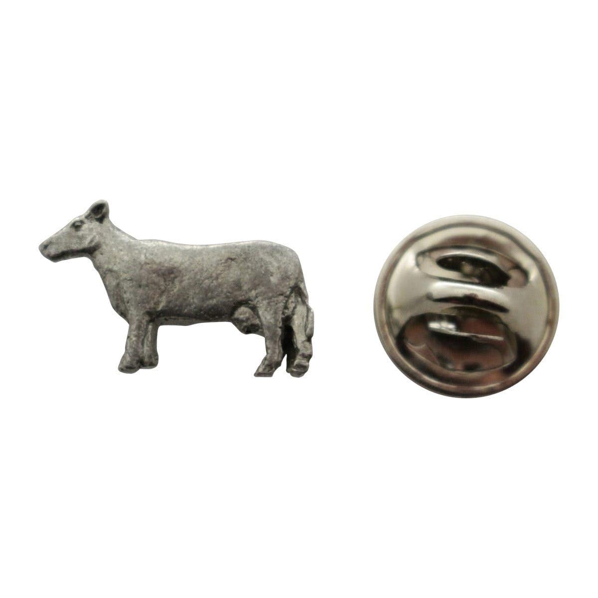 Attractive Cow Mini Pin ~ Antiqued Pewter ~ Miniature Lapel Pin ~ Sarahu0027s Treats U0026  Treasures
