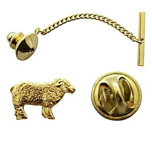 Sheep Tie Tack ~ 24K Gold ~ Tie Tack or Pin ~ Sarah's Treats & Treasures
