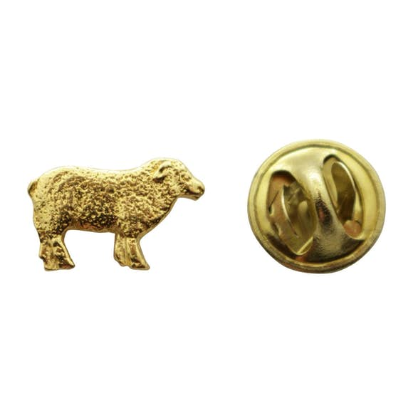 Sheep Mini Pin ~ 24K Gold ~ Miniature Lapel Pin ~ 24K Gold Miniature Lapel Pin ~ Sarah's Treats & Treasures