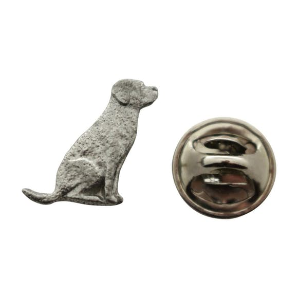 Lab or Labrador Mini Pin ~ Antiqued Pewter ~ Miniature Lapel Pin ~ Sarah's Treats & Treasures