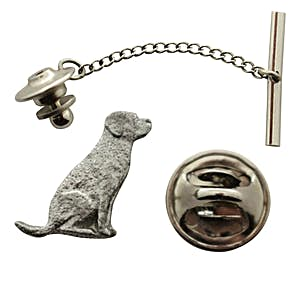Lab or Labrador Tie Tack ~ Antiqued Pewter ~ Tie Tack or Pin ~ Sarah's Treats & Treasures