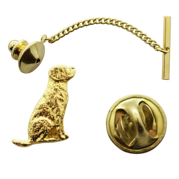 Lab or Labrador Tie Tack ~ 24K Gold ~ Tie Tack or Pin ~ 24K Gold Tie Tack or Pin ~ Sarah's Treats & Treasures