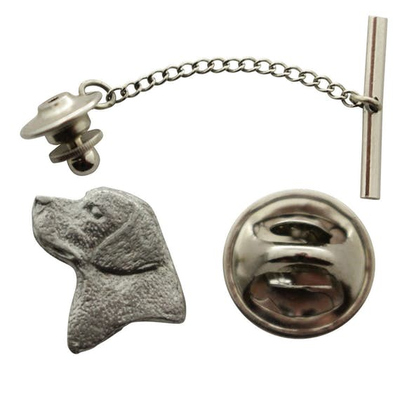 Lab or Labrador Head Tie Tack ~ Antiqued Pewter ~ Tie Tack or Pin ~ Antiqued Pewter Tie Tack or Pin ~ Sarah's Treats & Treasures