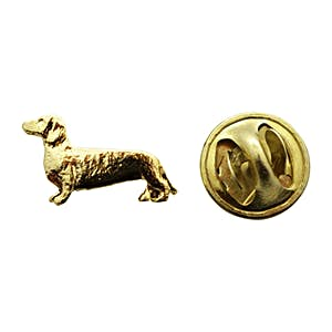 Dachshund Mini Pin ~ 24K Gold ~ Miniature Lapel Pin ~ 24K Gold Miniature Lapel Pin ~ Sarah's Treats & Treasures
